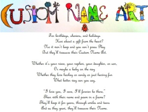 Custom Name Art and Poem